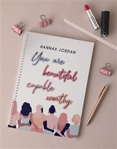 gifts: Personalised Beautiful Capable Worthy Notebook!