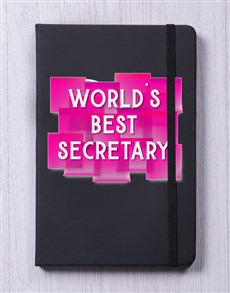 gifts: Personalised Worlds Best Secretary Notebook!