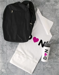 gifts: Personalised Heart initial Gym Towel Set!