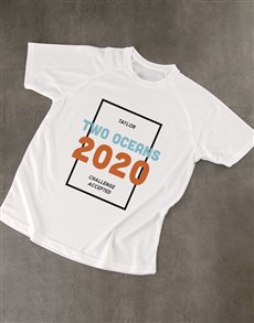 gifts: Personalised Challenge Accepted Dry Fit T Shirt!