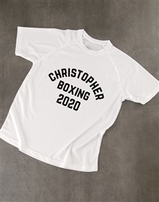 gifts: Personalised White Classic Dry Fit T Shirt!