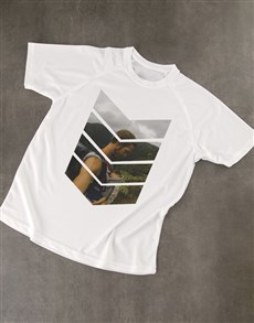 gifts: Personalised White Photo Dry Fit T Shirt!