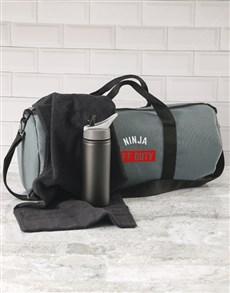 gifts: Personalised Off Duty Grey Gym Duffel Bag!