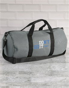gifts: Personalised Do It Grey Gym Duffel Bag!