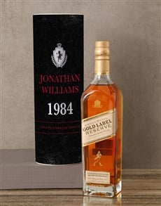 gifts: Personalised Johnnie Walker Crest Whisky Tube!