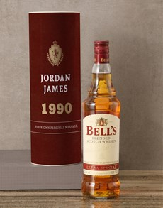 gifts: Personalised Bells Whisky Crest Tube!
