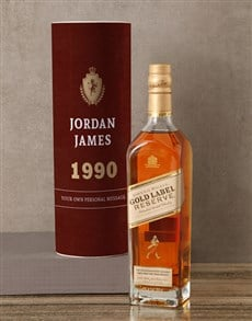 gifts: Personalised Johnnie Walker Whisky Classic Tube!