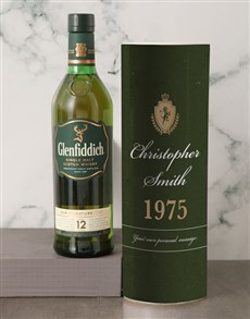 gifts: Personalised Glenfiddich Whisky Crest Tube!