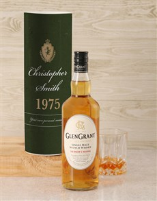 gifts: Personalised Glen Grant Whisky Crest Tube!