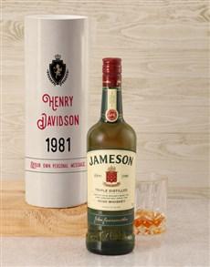 gifts: Personalised Jameson Vintage Whiskey Crest Tube!
