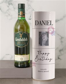 gifts: Personalised Glenfiddich Vintage Photo Tube!