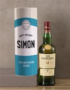 gifts: Personalised Glenlivet Retro Whisky Tube!
