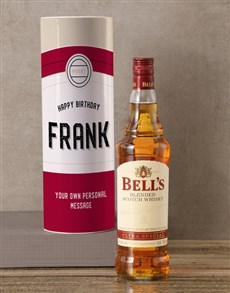 gifts: Personalised Bells Whisky Retro Tube!