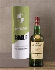 gifts: Personalised Glenlivet Whisky Modern Tube!