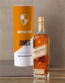 gifts: Personalised Johnnie Walker Whisky Modern Tube!
