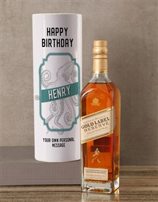 gifts: Personalised Johnnie Walker Whisky Kraken Tube!