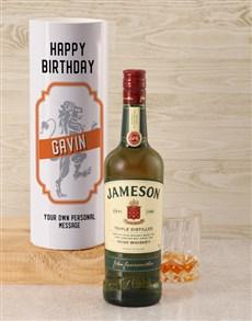 gifts: Personalised Jameson Whiskey Lion Tube!