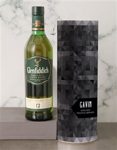 gifts: Personalised Glenfiddich Whisky Tube!