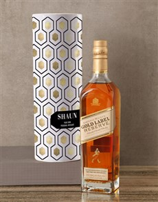 gifts: Personalised Johnnie Walker Whisky Tube!