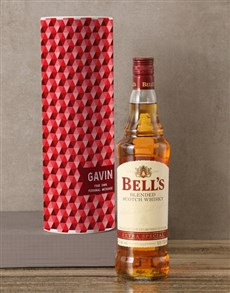 gifts: Personalised Bells Whisky Tube!