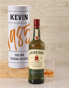 gifts: Personalised Jameson Whiskey Good Year Tube!