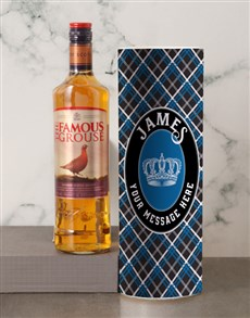gifts: Personalised The Famous Grouse Whisky Tube!