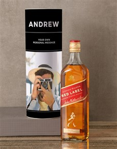 gifts: Personalised Johnnie Walker Whisky Photo Tube!