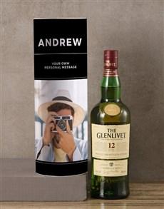 gifts: Personalised Glenlivet Whisky Photo Tube!