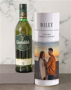 gifts: Personalised Glenfiddich Whisky Photo Tube!