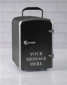 gifts: Personalised Message Black Desk Fridge!