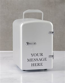 gifts: Personalised Message White Desk Fridge!