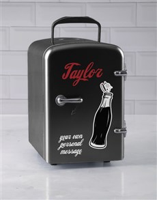 gifts: Personalised Cola Black Desk Fridge!