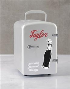gifts: Personalised Cola White Desk Fridge!