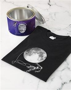 gifts: Personalised Interstellar Birthday T Shirt Tin!