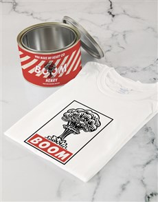 gifts: Personalised Heart Boom T Shirt Tin!