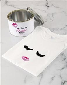 gifts: Personalised Birthday Beautiful T Shirt Tin!