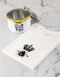 gifts: Personalised Queen Bee T Shirt Tin!