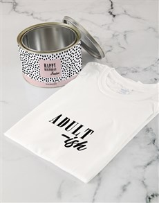 gifts: Personalised Adultish T Shirt Tin!