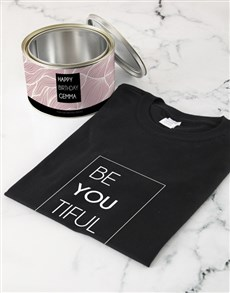 gifts: Personalised Be You Tiful T Shirt Tin!
