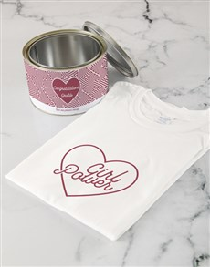 gifts: Personalised Girl Power T Shirt Tin!