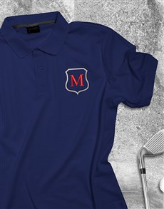 gifts: Personalised Embroidered Navy Golf Shirt!