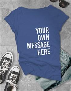 gifts: Personalised Royal Blue Ladies T Shirt!