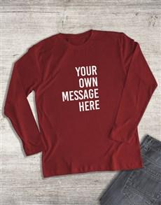 gifts: Personalised Red Ladies Long Sleeve Shirt!