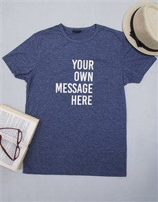 gifts: Personalised Navy Mens T Shirt!