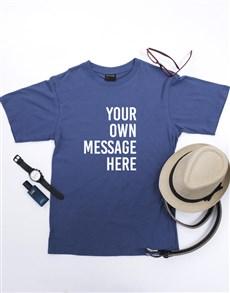 gifts: Personalised Petrol Blue Mens T Shirt!