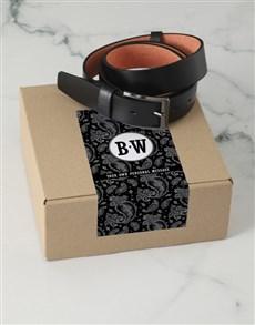 gifts: Personalised Black Paisley Belt Box!