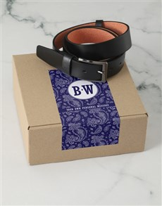 gifts: Personalised Navy Paisley Belt Box!