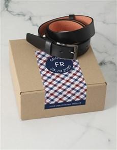 gifts: Personalised Navy Crossed Belt Box!