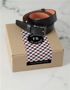 gifts: Personalised Black Crossed Belt Box!