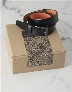 gifts: Personalised Brown Paisley Belt Box!